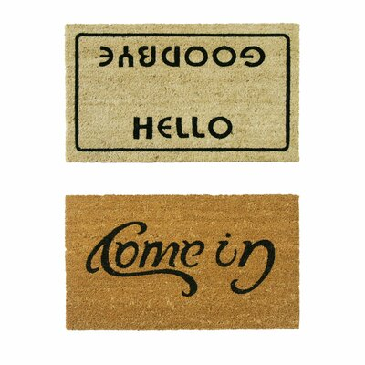 2 Piece Welcome Go Away Doormat Set