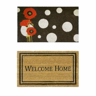 2 Piece Modern Decor Doormat Set
