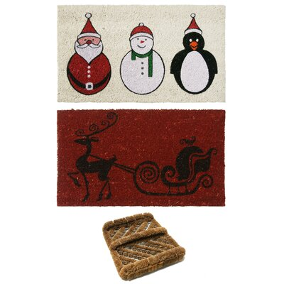 3 Piece Christmas Doormat Set