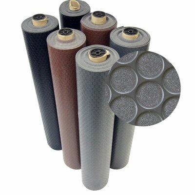 Coin-Grip Anti-Slip Rolled Rubber Mat