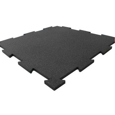 Puzzle-Lock Rubber Flooring Mat