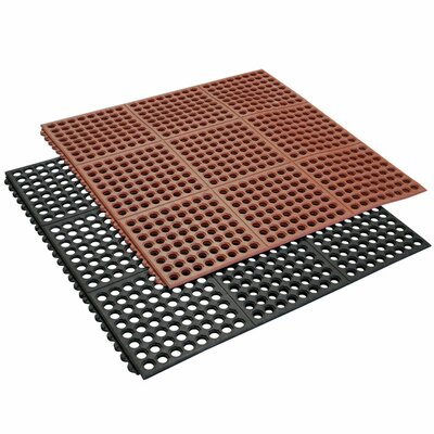 Dura-Chef Interlock Anti-Fatigue Matting Rubber Floor Mat