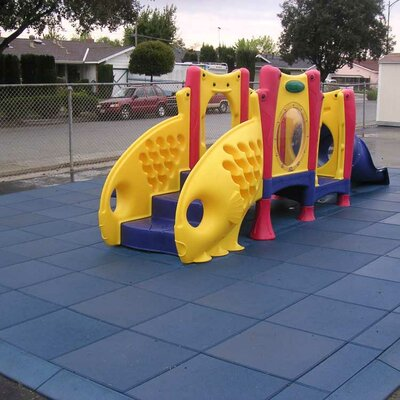 Eco-Safety Interlocking Playground Tile