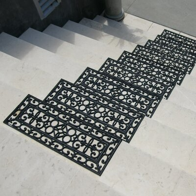 6 Piece Regal Rubber Stair Treads Step Mat Set