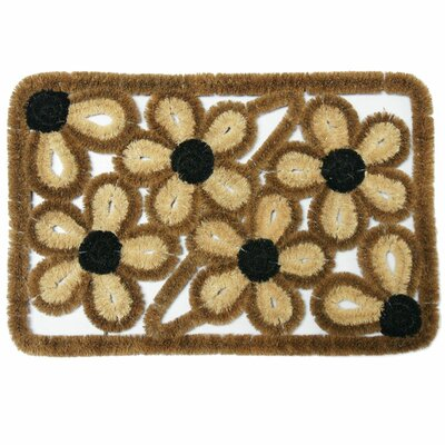 Wild Flowers Coco Coir Doormat