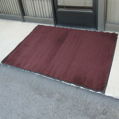 Tuff-Plush Floor Doormat Color: Burgundy, Rug Size: 3' x 4'
