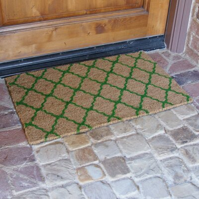 The Moroccan Doormat Color: Green