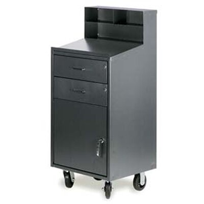 2-Drawer Shop Desk with Locking Cabinet Product Photo 6528