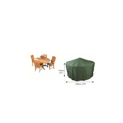 Premier Breathable Circular Patio Dining Set Cover