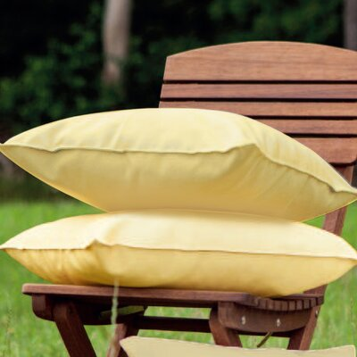Indoor/Outdoor Throw Pillow Color: Yellow