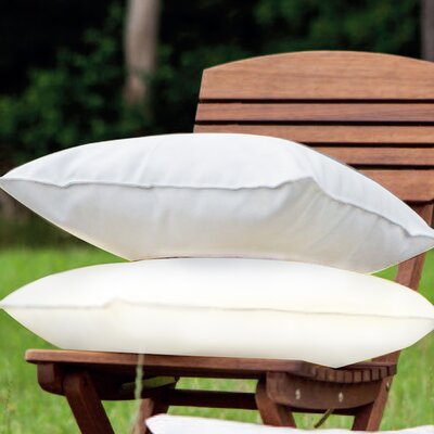 Indoor/Outdoor Throw Pillow Color: Cream