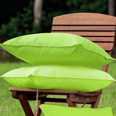 Indoor/Outdoor Throw Pillow Color: Green