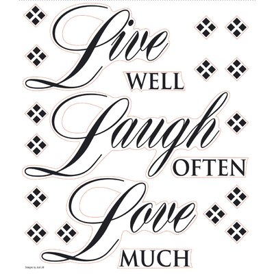 Live Well, Laugh Often, Love Much Quote Wall Decal 0033SSWH