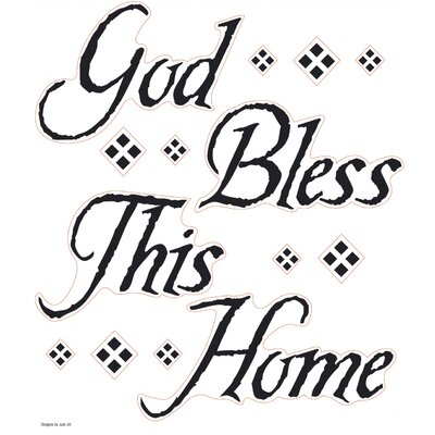 God Bless This Home Quote Wall Decal 0035SSWH