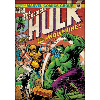 Marvel Comics Hulk/Wolverine Comic Cover Wall Decal 1661SLGWH