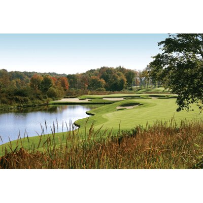 "Autumn Golf Glossy Wall Mural Size: 24"" H x 36"" W x 0.1"" D plc16-p36"