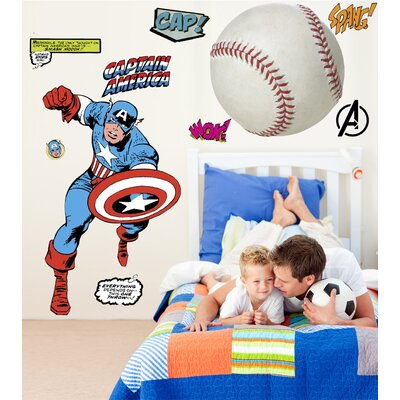 Marvel Comics Captain America Classic Wall Decal 2338GMWH