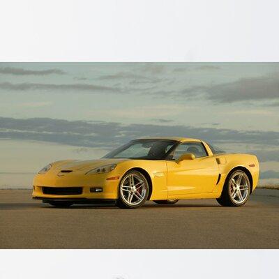 "Corvette Z06 Glossy Wall Mural Size: 16"" H x 24"" W x 0.1"" D vcl23-p24"