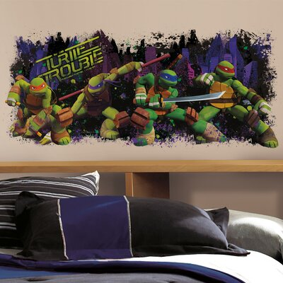 "Teenage Mutant Ninja Turtles ""Trouble"" Wall Decal 2326GMWH"