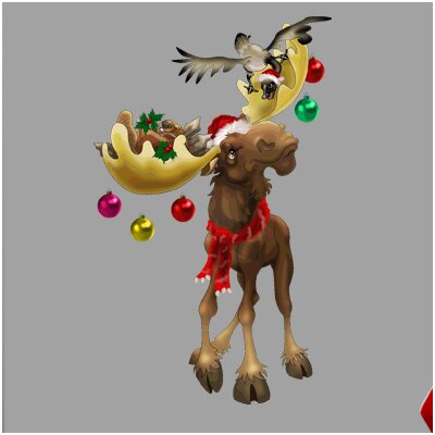 """Christmas Moose Wall Decal Size: 48"""" H x 29.5"""" W"""
