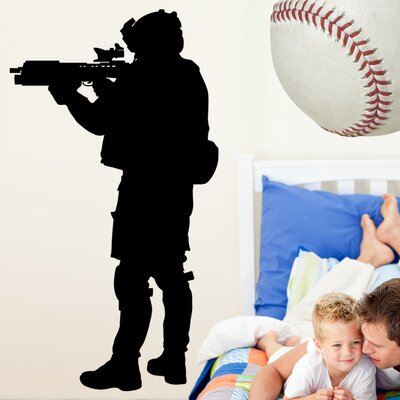 Haynes Military Soldier III Silhouette Cutout Wall Decal haynes36-t48