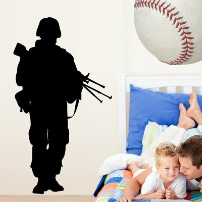 Haynes Military Soldier VII Silhouette Cutout Wall Decal haynes40-t48