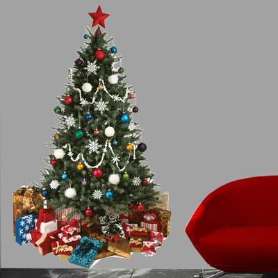 """Christmas Tree Cutout Wall Decal Size: 36"""" H x 21.5"""" W"""