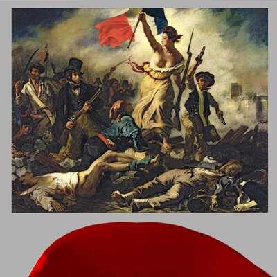 1830 'Liberty Leading the People' by Eugene Delacroix Oil Painting Print Poster Size: 19