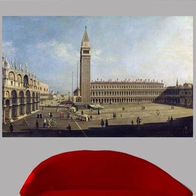 18th 'Piazza San Marco' Graphic Art Print Poster Size: 15