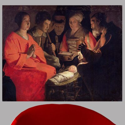 17th 'Adoration of the Shepherds' by Georges de la Tour Oil Painting Print Poster Size: 19