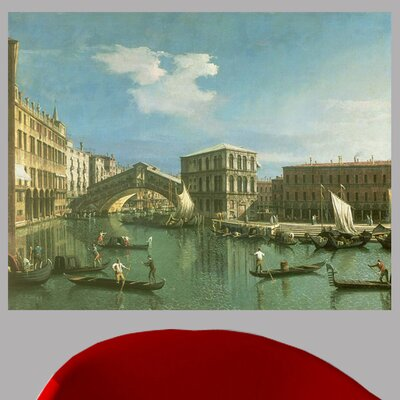 18th 'The Rialto Bridge' by Giovanni Canaletto Graphic Art Print Poster Size: 18.5