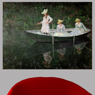 1887 'The Boat at Giverny' by Claude Monet Print Poster Size: 18