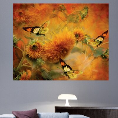 'Sunflowers' Graphic Art Print Poster Size: 19