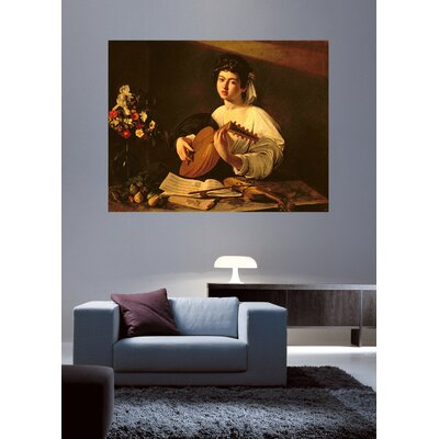 'The Lute Player' Oil Painting Print Poster WNPR6924 41867252
