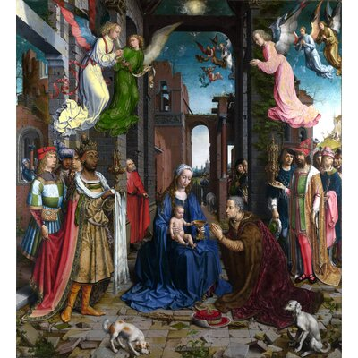 'Adoration of the Kings' Oil Painting Print Poster Size: 24