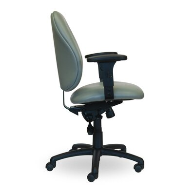 Contour II Mid Back Task Chair with Arms Upholstery Black Arms Flat Arm Rests Seat Mechanism Multi Function Tilter