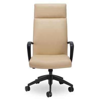 K High-Back Executive Chair Upholstery: Black, Seat Mechanism: Multi Locking Tilter