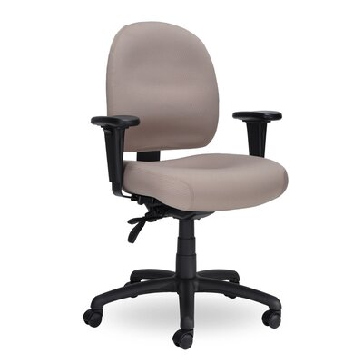 Pearl II Mid-Back Desk Chair Seat Mechanism: Seat Height Adjustable with Tilt, Upholstery: Grey PE211 Q25 TC WAB Grade 1 Icon Grey