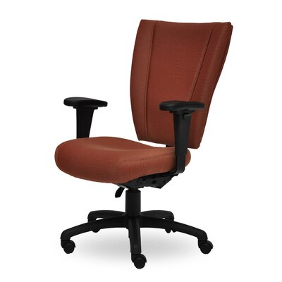 Monterey II High-Back Desk Chair Seat Mechanism: Seat and Back Height Adjustable, Upholstery: Grey MO210 Q22 TA Grade 1 Icon Grey