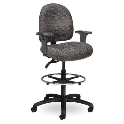 Pearl II Mid-Back Drafting Chair Color: Gray PE221 M20 TC WAB Grade 1 Icon Grey