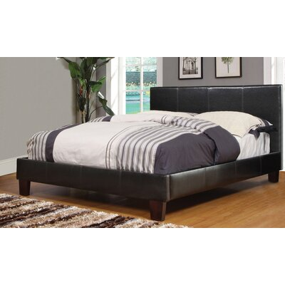 Upholstered Platform Bed Color: Brown, Size: Double