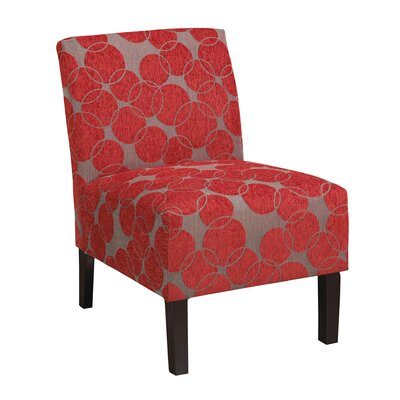 Slipper Chair Upholstery: Red