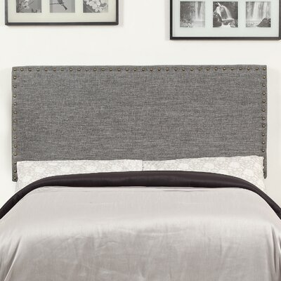Queen Upholstered Panel Headboard Upholstery: Grey