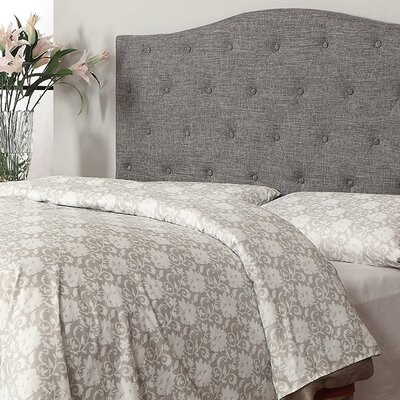 Queen Upholstered Panel Headboard Upholstery: Grey