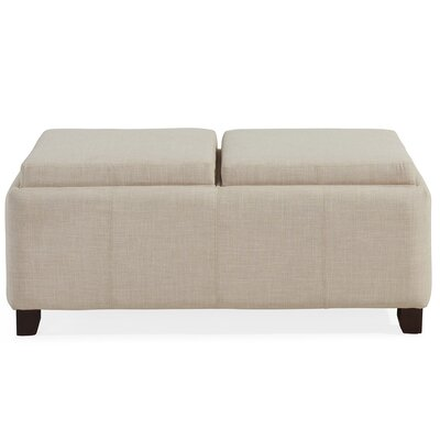 Double Tray Ottoman Color: Beige