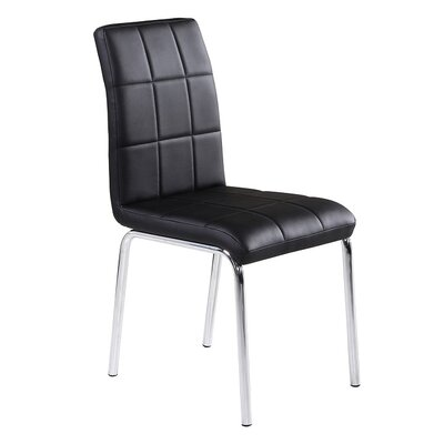 Side Chair Upholstery: Faux Leather - Black