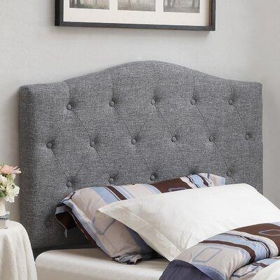 Twin Upholstered Panel Headboard Upholstery: Grey