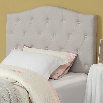 Twin Upholstered Panel Headboard Upholstery: Natural Linen