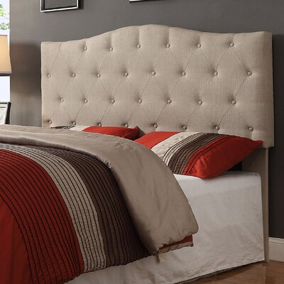 Queen Upholstered Panel Headboard Upholstery: Natural Linen