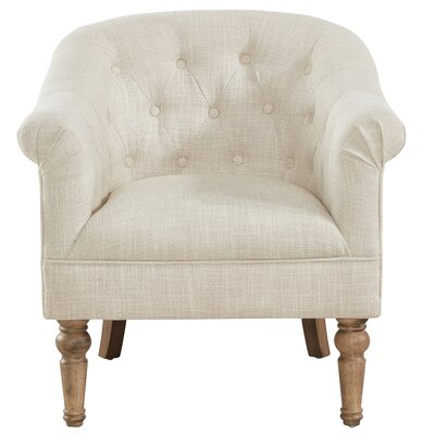 Loredana Tufted Armchair Upholstery: Beige
